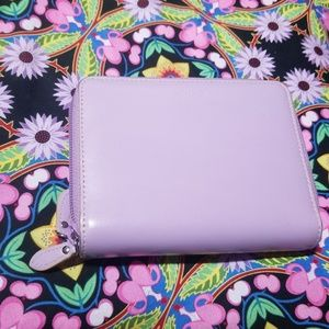 Lodi Lavender RFID Continental Double Zip Wallet